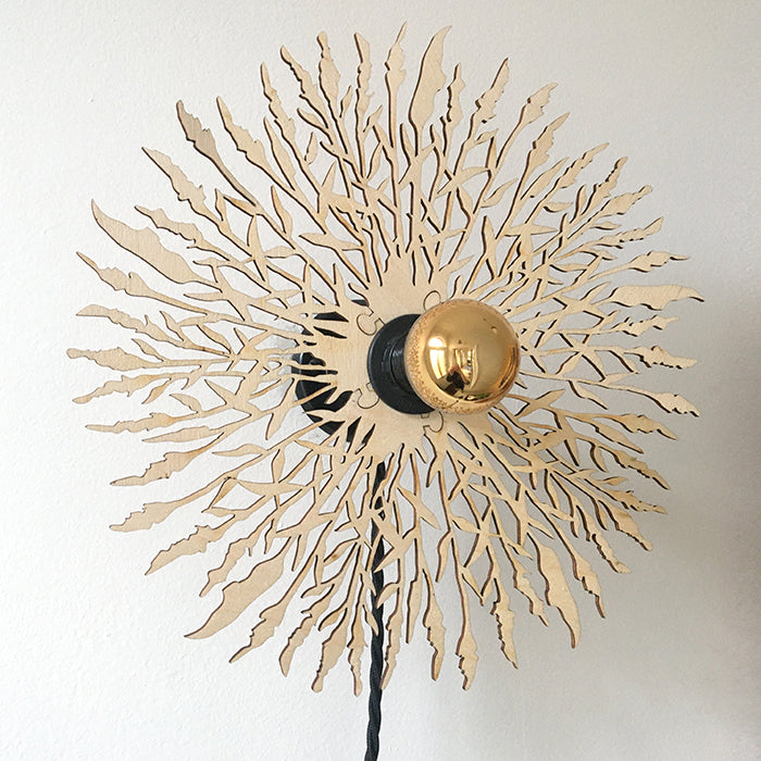 Reed Wall Light by Norfolk based designer Charlotte Packe