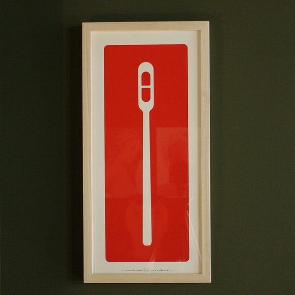 Remembering Plastic - red ink (framed)