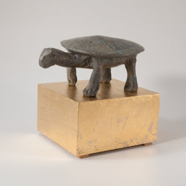 TORTOISE. Bronze sculpture by Cambs based artist Christopher Marvell