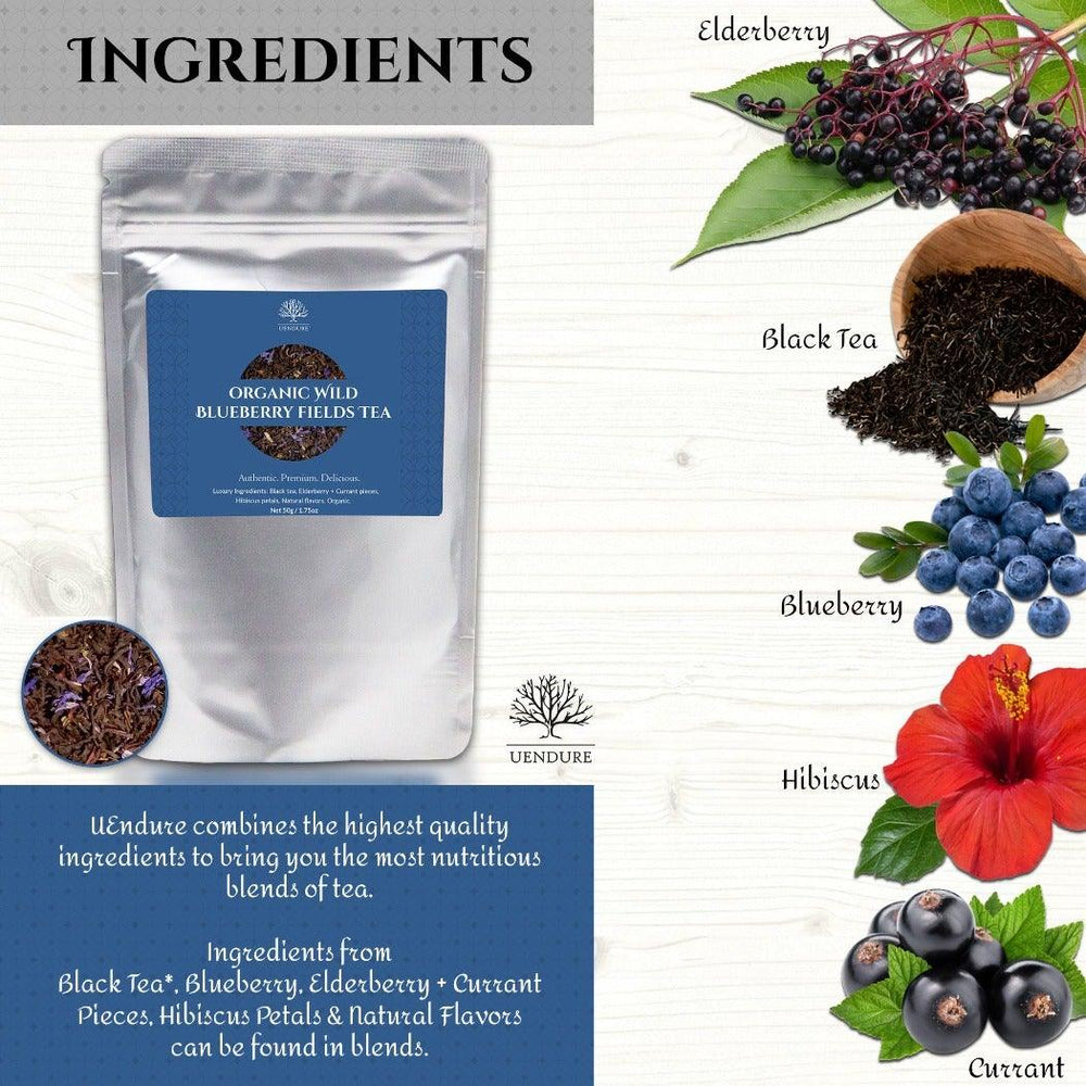 *New* Organic Wild Blueberry Fields Loose Leaf Black Tea - UEndure