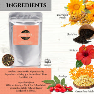*New* Organic Peach Apricot Nectar Loose Leaf Tea 50g / 1.75 oz - UEndure
