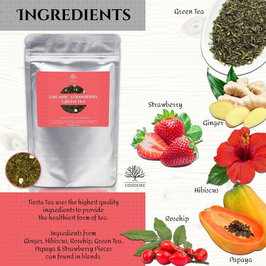 *New* Organic Strawberry Loose Leaf Green Tea  50g / 1.75 oz