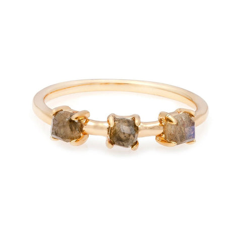Rings Melaine Auld Stacking Moon Stone Pave