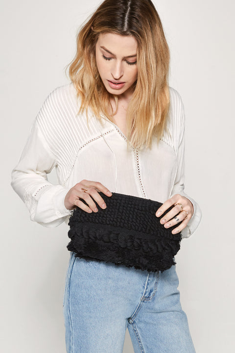 Woman's Accessories. Black Clutch