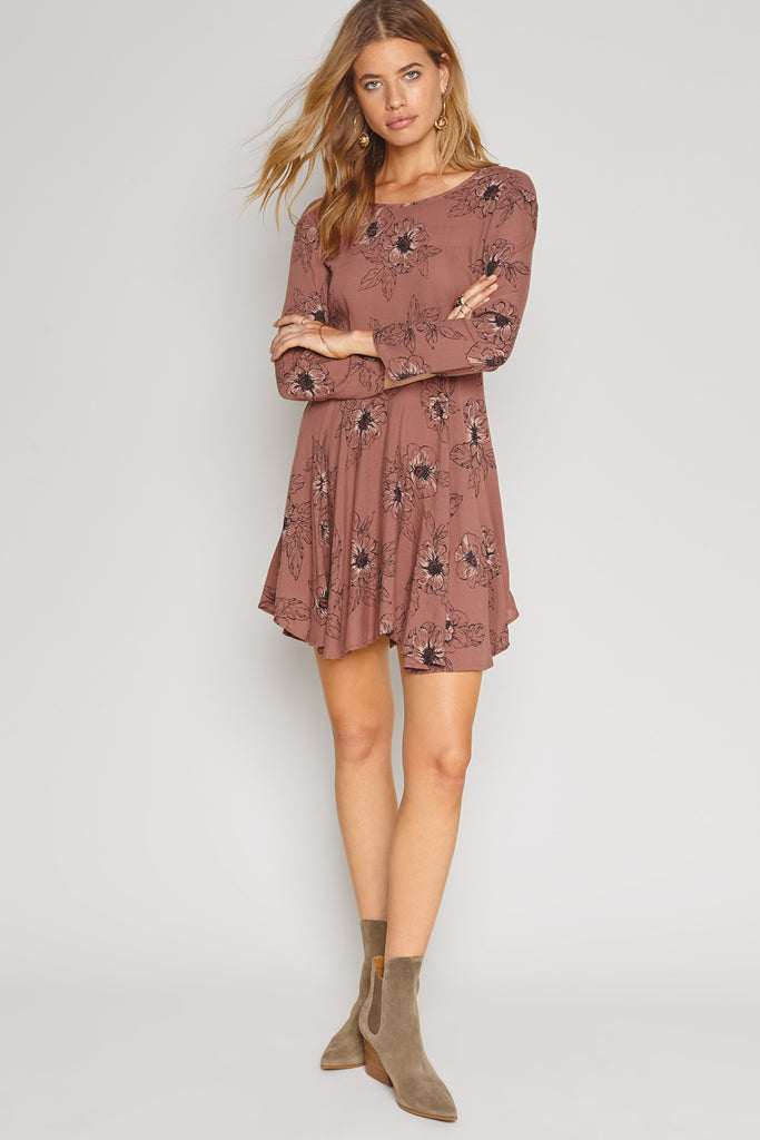 Steller Dress by Amuse Society Long Sleeve Floral