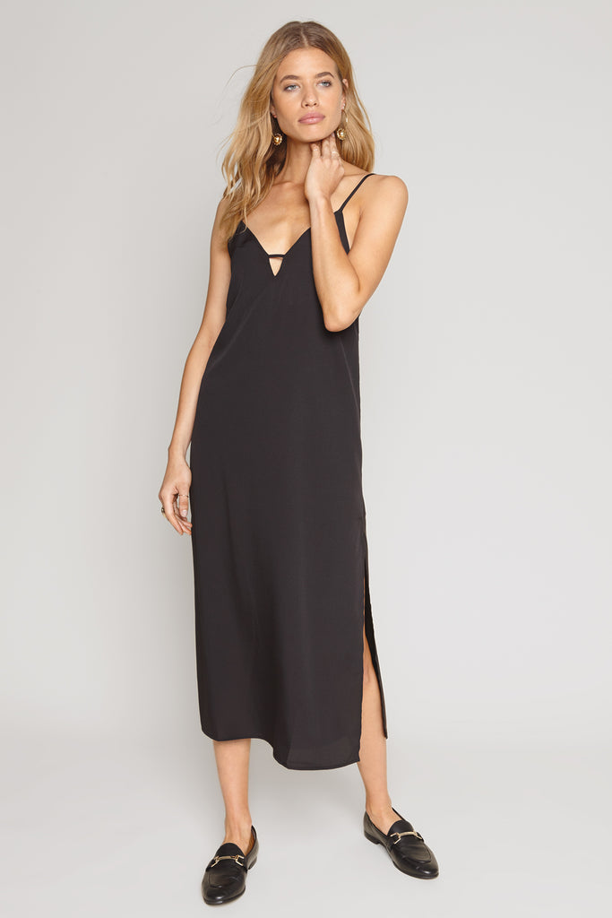 Amuse Society Black Slip Dress