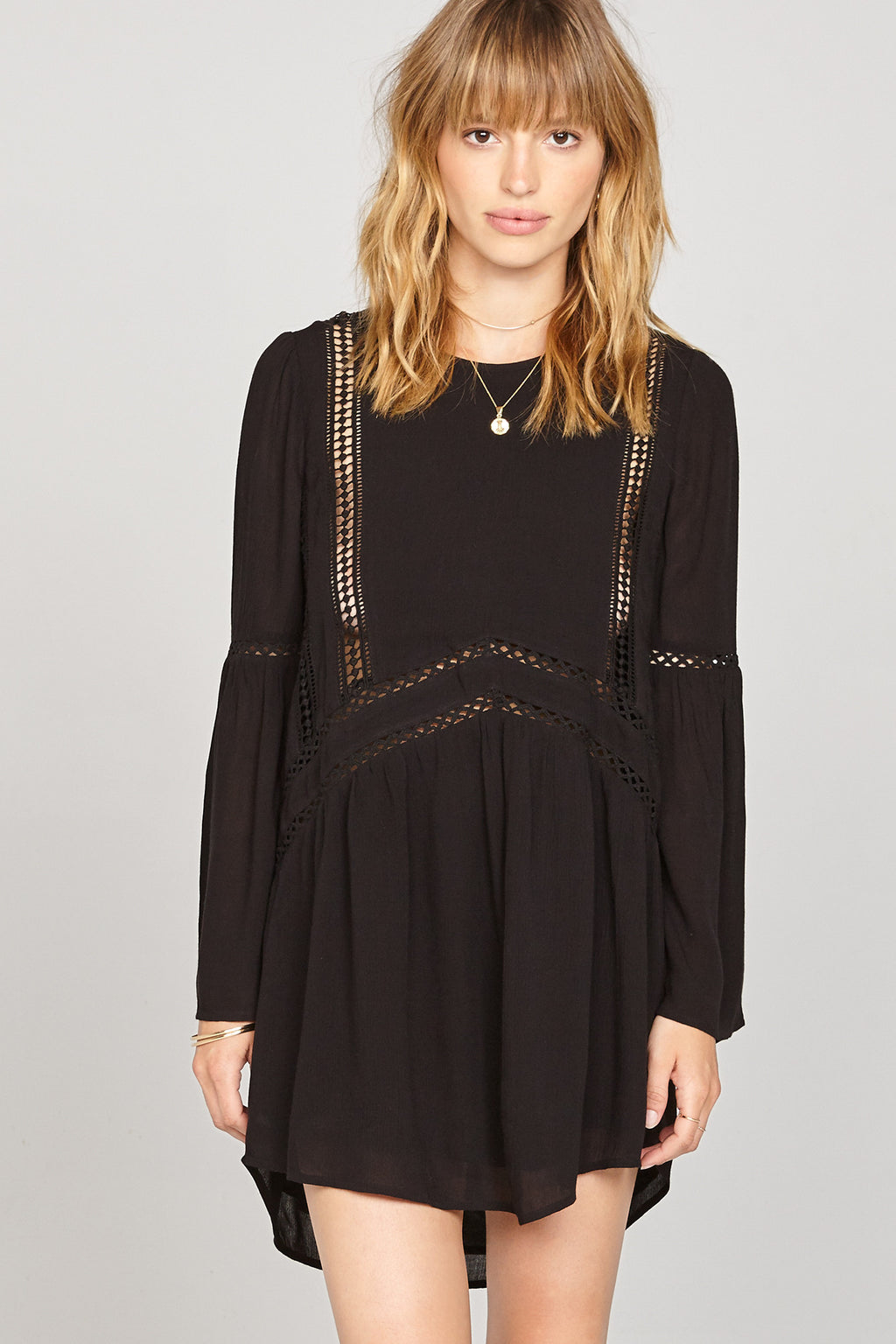 Amuse Society Black Kensington Dress AD15ken