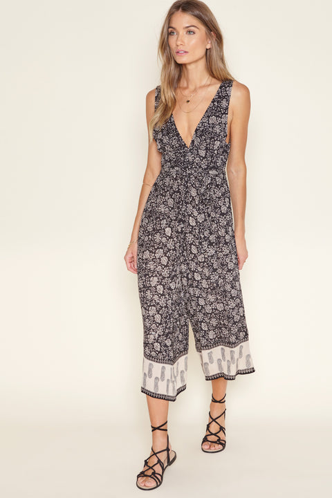 Amuse Society Printed Jumper Romper