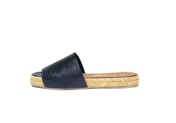 Espadrille Slide Black
