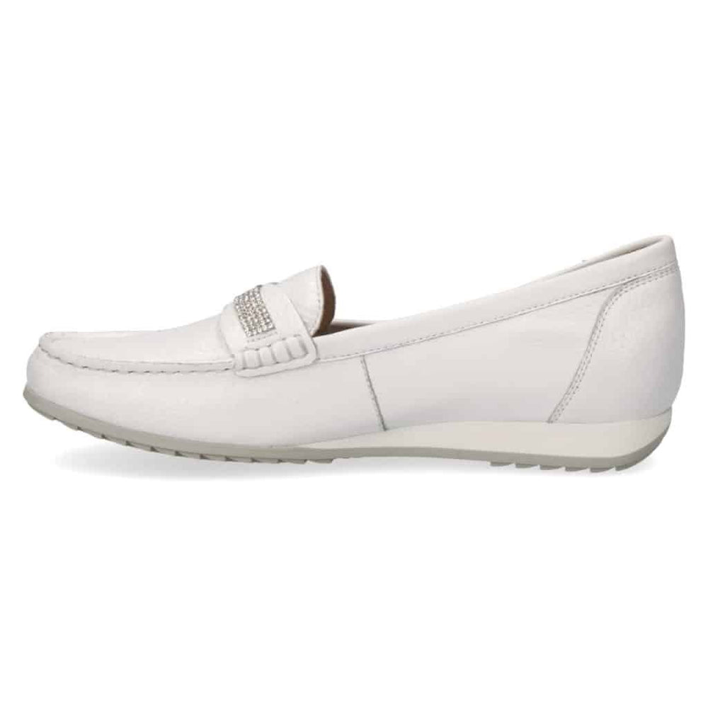 CAPRICE WHITE MOCCASIN 24253