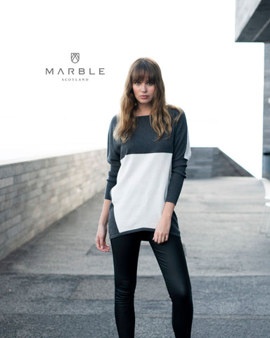 MARBLE FINE KNIT TUNIC 5876