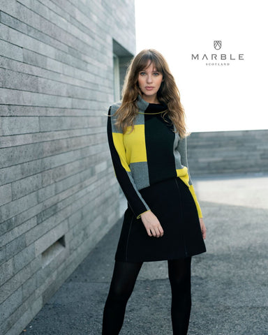 MARBLE CHECK SWEATER 5904
