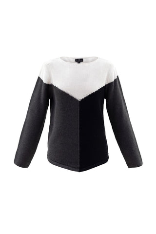 MARBLE COLOUR BLOCK SWEATER 5924