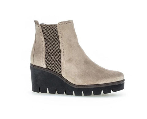 GABOR SUEDE CHELSEA WEDGE ANKLE BOOT 54.783.24