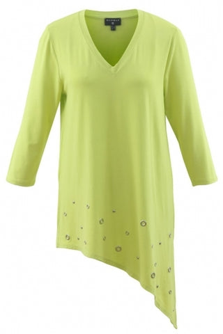 Marble Asymmetrical Lime Tunic 5727