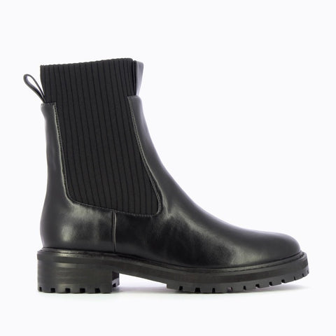 VANESSA WU RIBBED SOCK BOOT BT2202