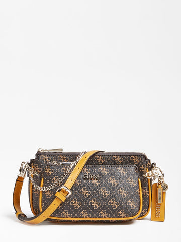 GUESS ARIE CROSSBODY 4G LOGO ALL OVER
