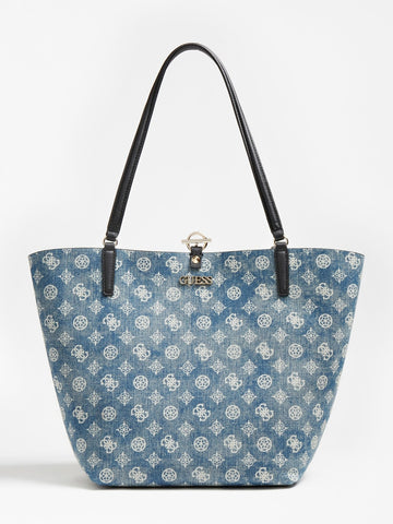 GUESS ALBY TOGGLE DENIM SHOPPER