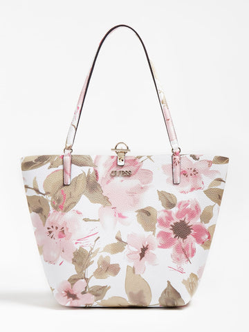 GUESS ALBY FLORPRINT SHOPPERAL
