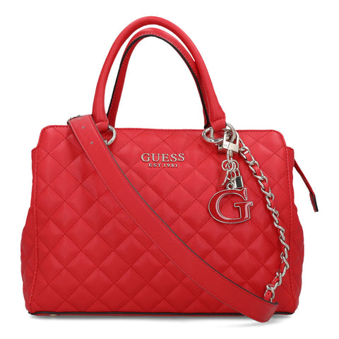 GUESS MELISE QUILTED TOP HANDLE BAG