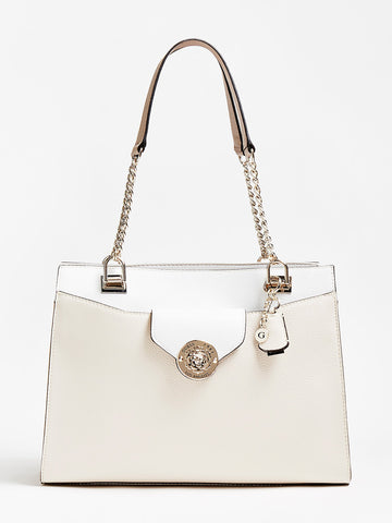 GUESS BELLE ISLE CHARM SHOULDER BAG