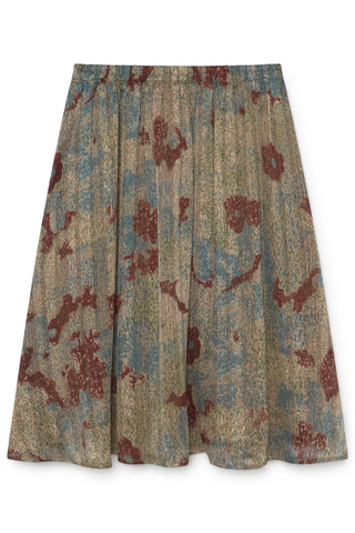 SKATIE CHIFFON MIDI SKIRT WITH PRINT