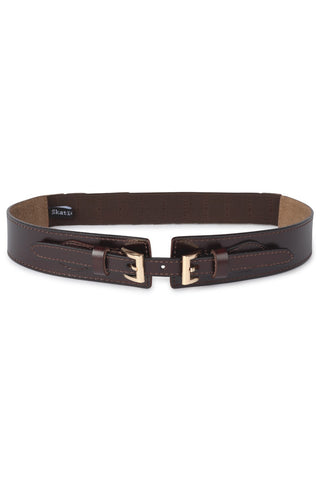 SKATIE BELT WITH GOLD BUCKLE