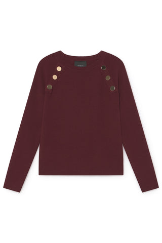 SKATIE BASIC SWEATER WITH BUTTONS