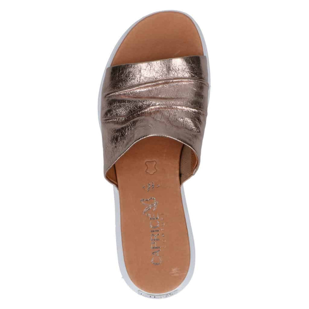 CAPRICE METALLIC BRONZE MULE -H FIT- 27203