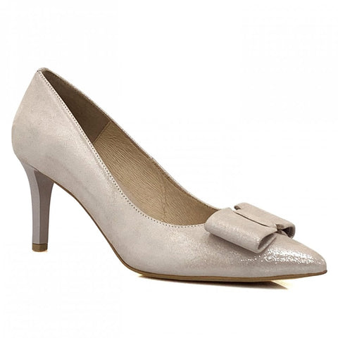 Emis Shimmer Bow Court Shoe