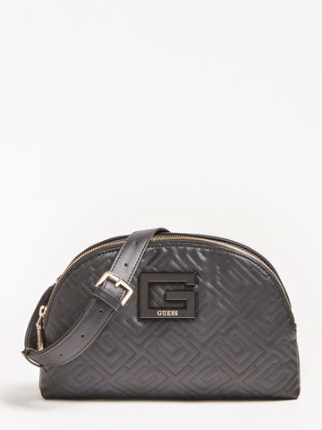 JANAY QUILTED DOUBLE ZIP CROSSBODY