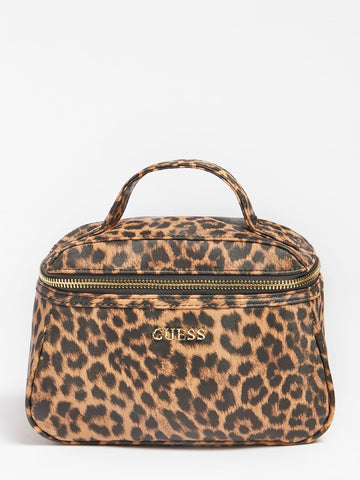 GUESS LALIE ANIMAL PRINT VANITY CASE