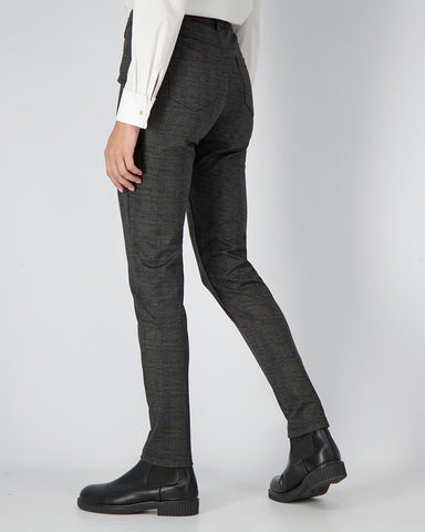AXEL SLIM CUT CHECK TROUSERS