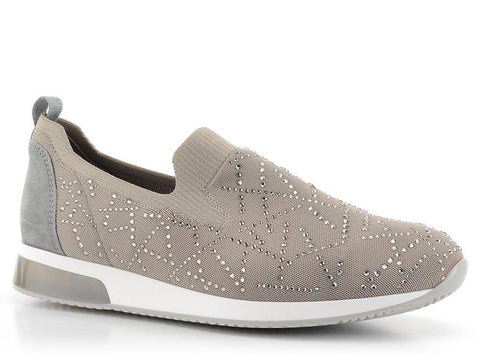 ARA FUSION LISSABON SLIP ON DIAMANTE TRAINERS 12-24067
