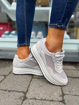 IGI & CO 7152211 Silver Platform Trainers