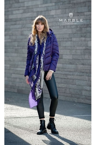 Marble Scarf Purple