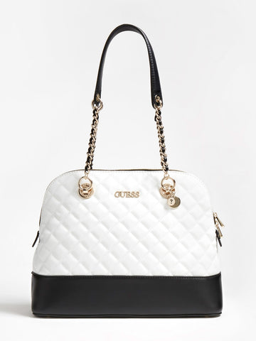 GUESS ILLY QUILTED DOME SATCHEL