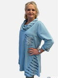 DECK by Decollage Cowl Neck Tunic 9883 +COLOURS