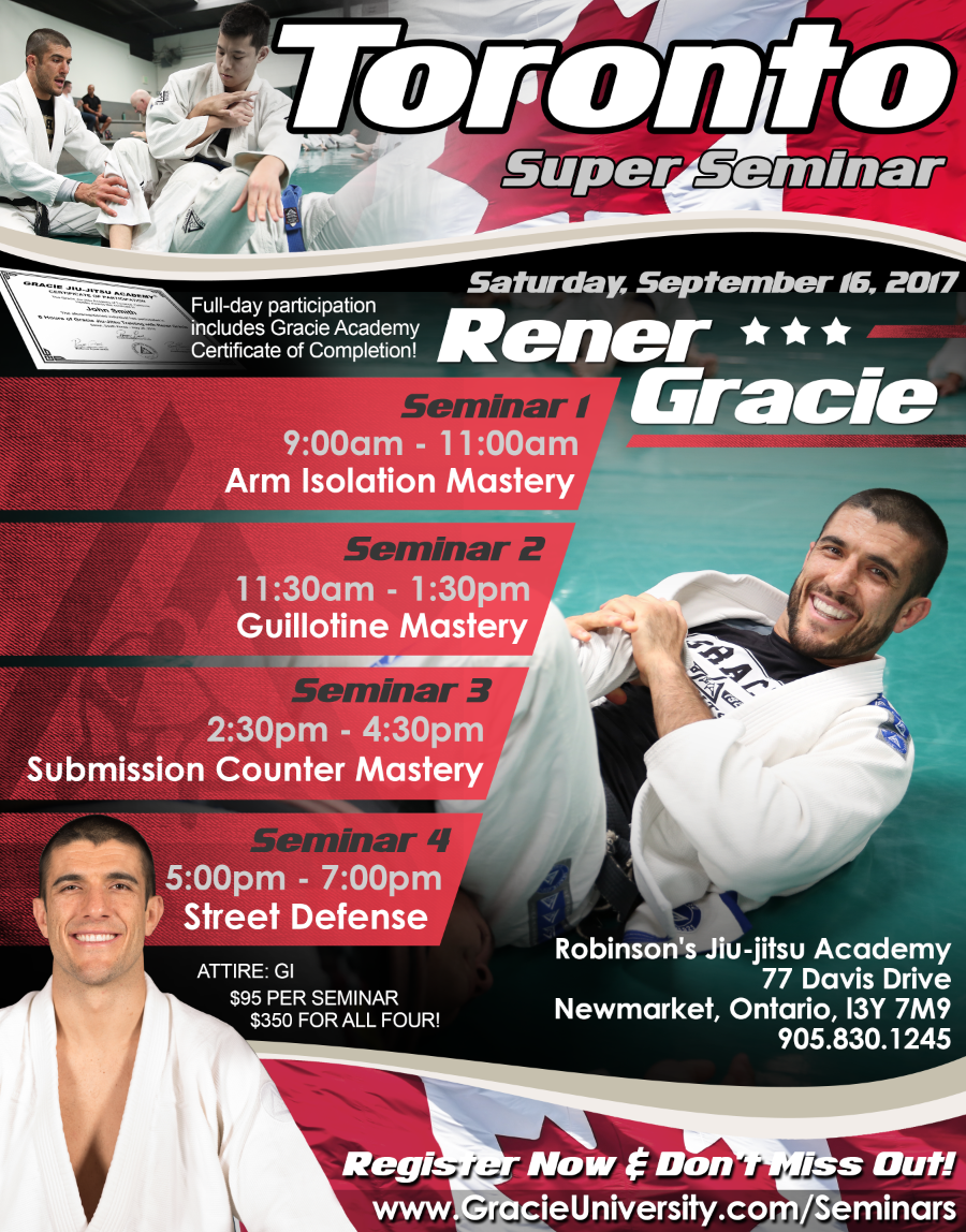 Rener Gracie Super Seminar