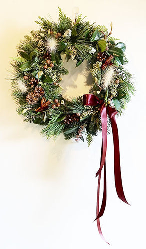 Nordic inspired classic Christmas wreath