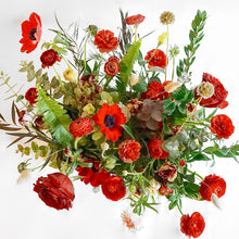 This is a Valentine's take on our 'The English Garden'. A selection of seasonal flowers in shades of red and hints of dusky pink and blush set in either 4 or 6 jam jars. A perfect alternative to your usual bouquet.
