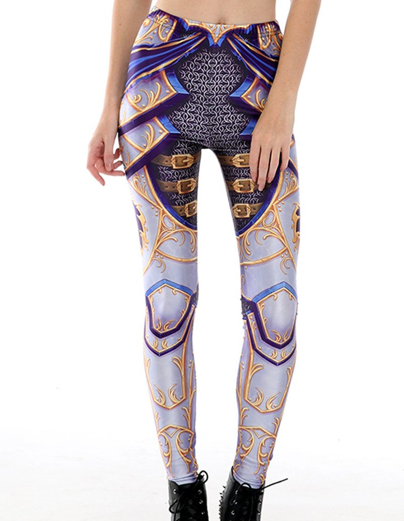 Retro Goddess Armour Printed Leggings