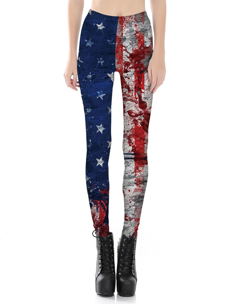 American Flag Printed Leggings