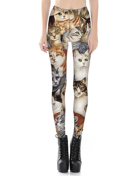 Kitty Cats Printed Leggings