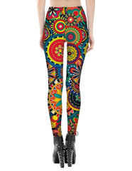 Boho Circle Printed Leggings
