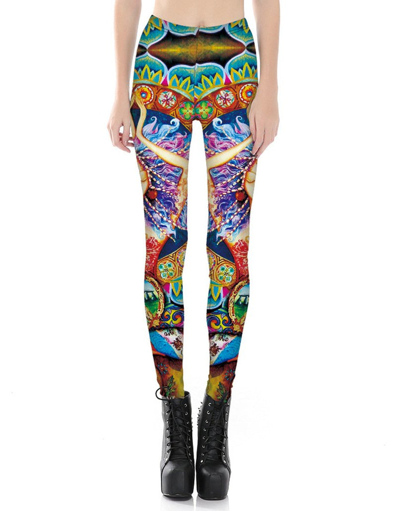 Lotus Goddess Printed Leggings