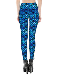 Fish Scale Printed Leggings