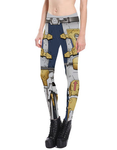 Cartoon Armour Printed Leggings