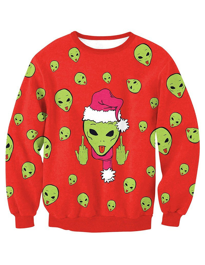 How The Grinch Stole Christmas Print Red Pullover Sweatshirt