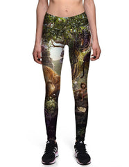 Sassy The Jungle Book Printed High Waist Womens Yoga Workout Leggings